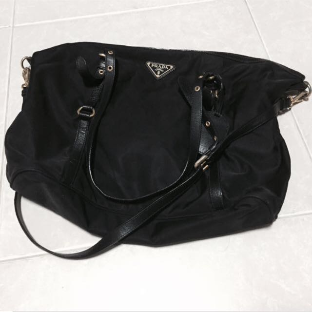bd0d70d92bca Authentic Prada Nylon Sling Bag
