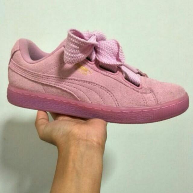 brand new 4205e 2ca3e AUTHENTIC Puma Suede Heart Prism Pink
