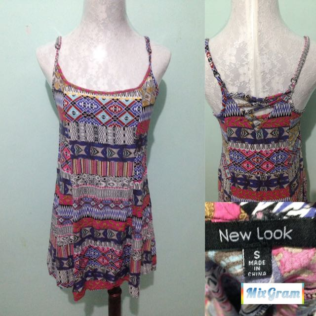 Aztec crisscross dress