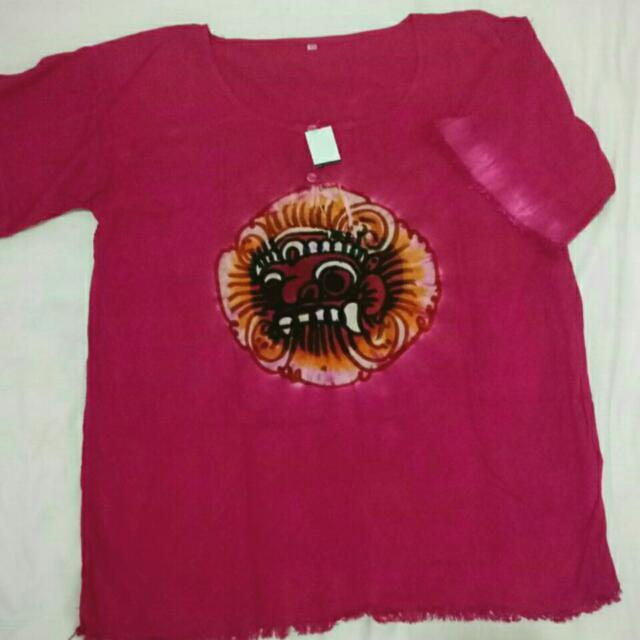 Baju Kaos Barong Bali Katun Rayon Unisex
