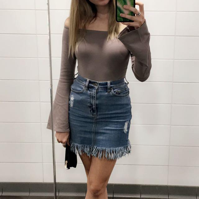 Bardot Fringe Skirt