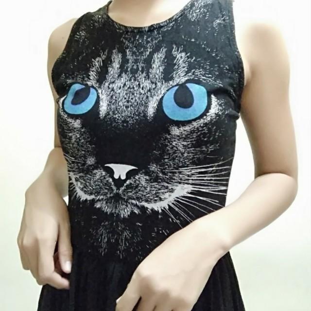 Colorbox : Black cat dress