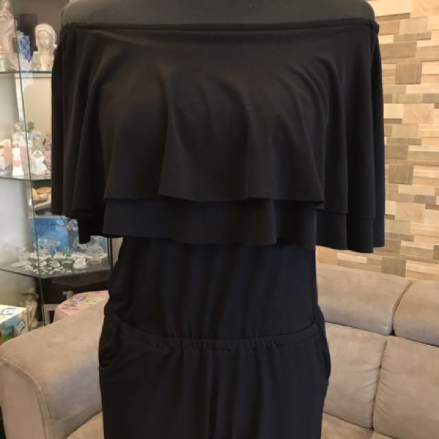 Black jumpsuit 4 way