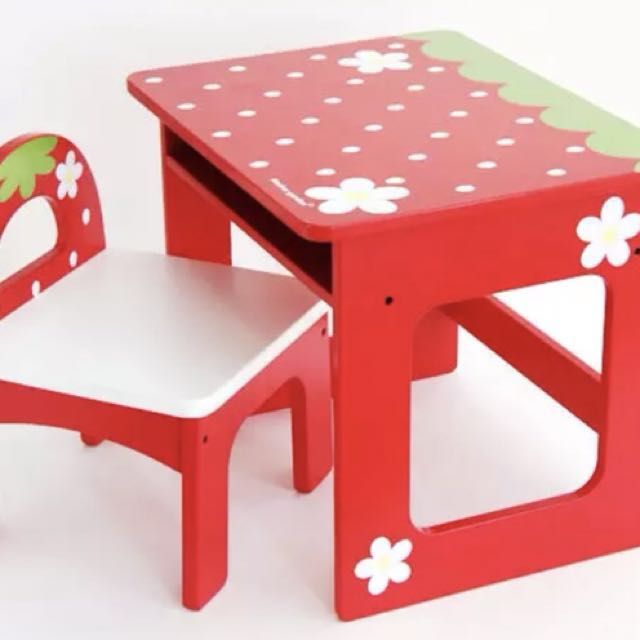 Brand new solid wooden kids playing table/desk +chair