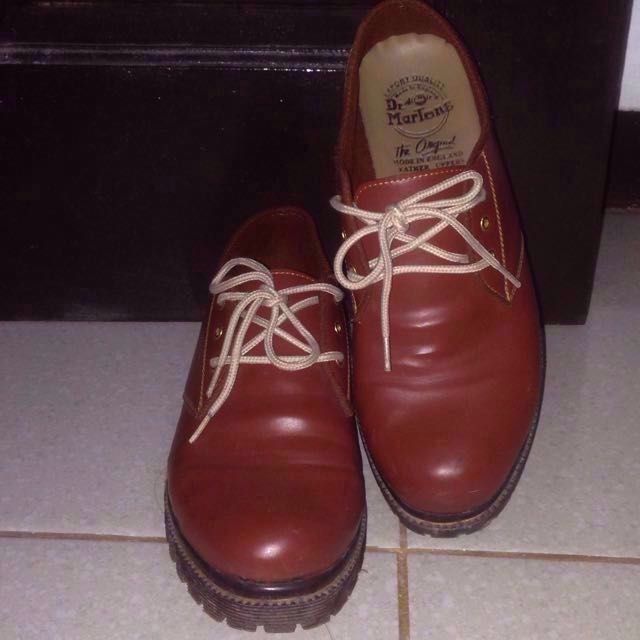 Brown shoes sepatu coklat vintage doctmart