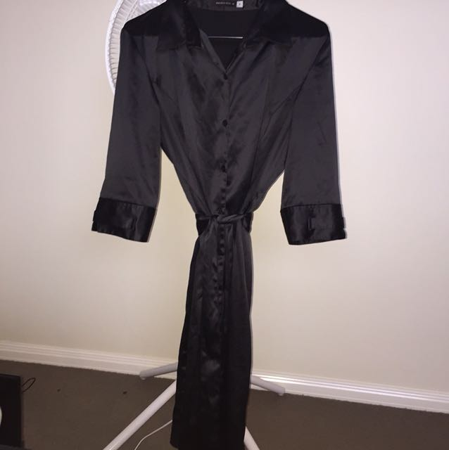 Brown sugar silky dressing gown