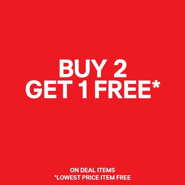 BUY 2 FREE 1