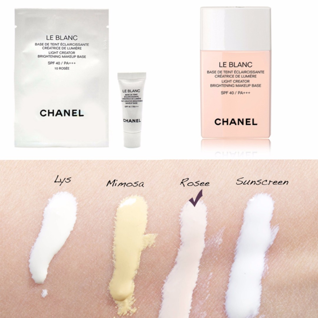 Chanel Le Blanc Light Creator Brightening Makeup Base De Spf40 Pa 10