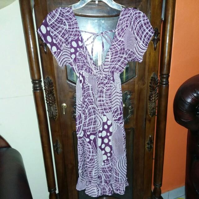 Chiffon Purple Mini Dress.. #moveonyuk