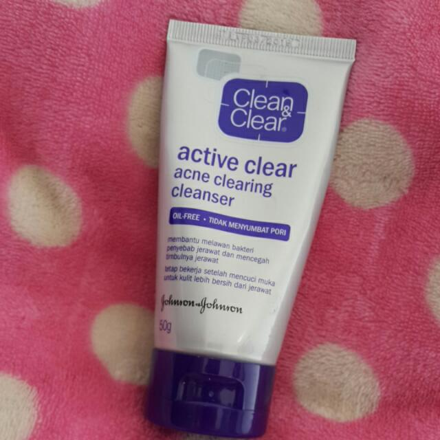 Clean & Clear Active Clear Acne Clearing Cleanser