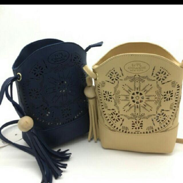 Coach Tassel Sking Bag Cellphone Pouch
