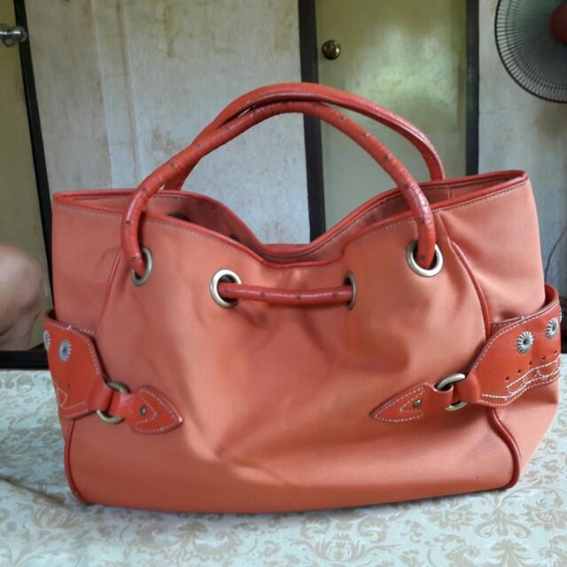 Cole Haan Kaylanylon Orange Bag