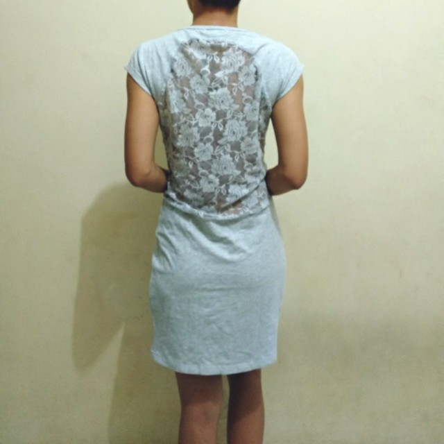 Cotton On : grey lace dress