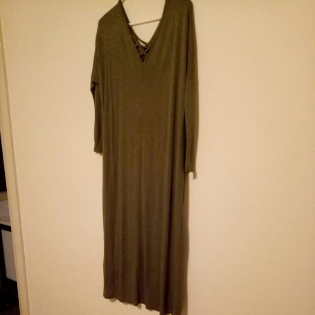 Cotton on khaki dress size M