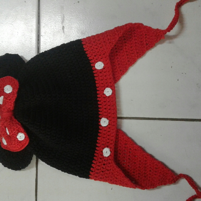 crochet minnie mouse beanie