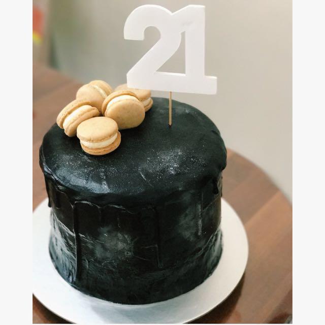 Enjoyable Customised Cake Tags Black Gothic Cake Goth Dark Chocolate 21St Funny Birthday Cards Online Inifofree Goldxyz