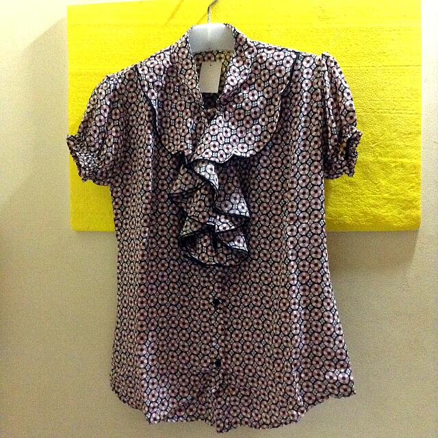 Cute Office Blouse (Size S)