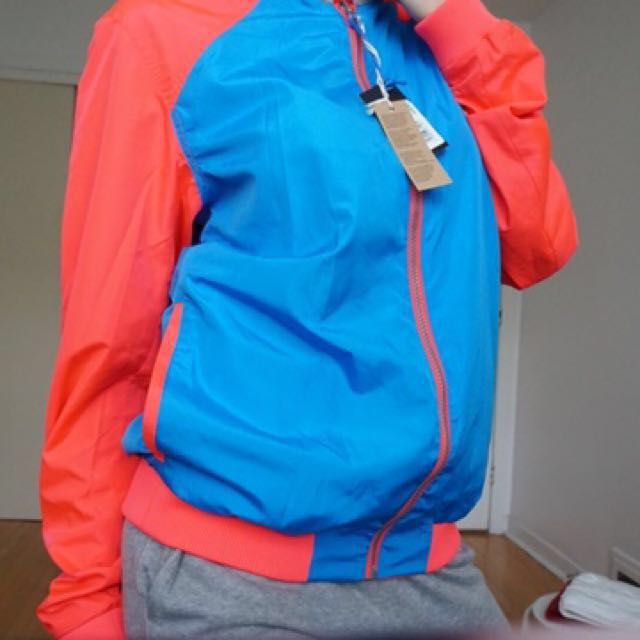 Double sided neon pink and blue brand new diesel windbreaker