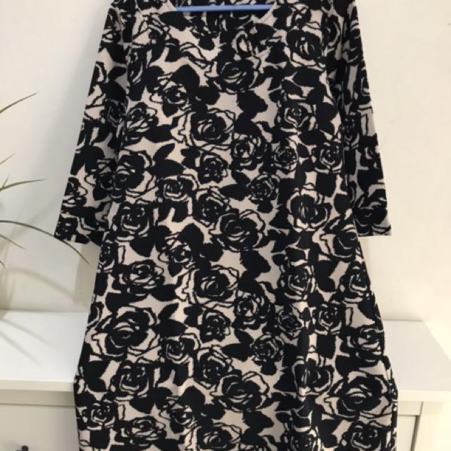 Dress kembang hitam choco