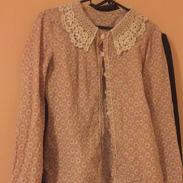 Dusty Pink Peter Pan Dollar Blouse~mine