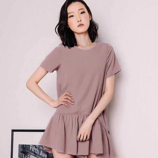 1899e6e7283 Fashmob Angeles Dress Playsuit (Dusty Pink)
