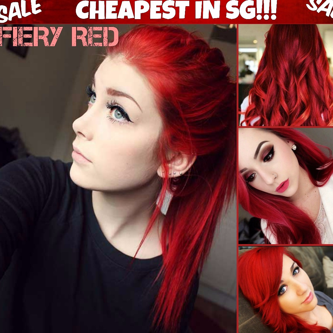 Fiery Red Hair Dye Color Health Beauty Hair Care On Carousell