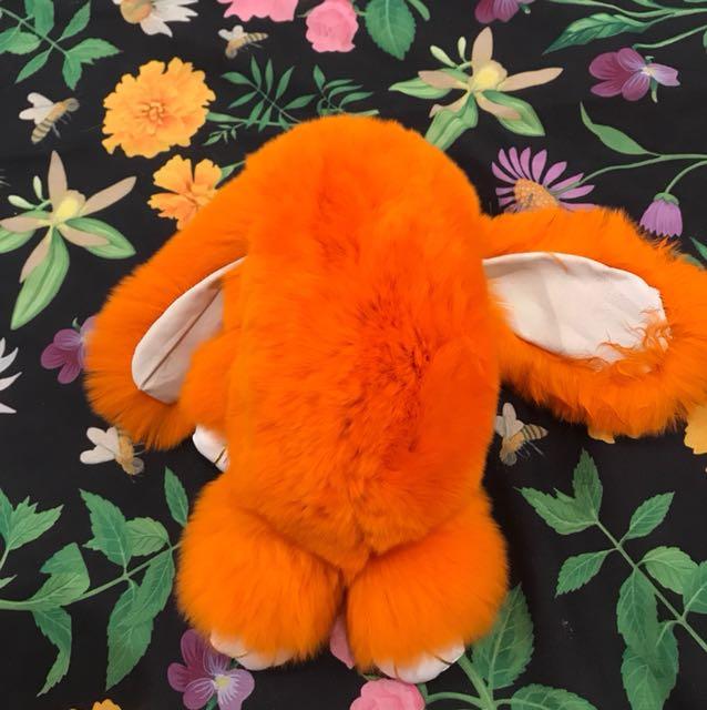 Fluffy bunny keychain