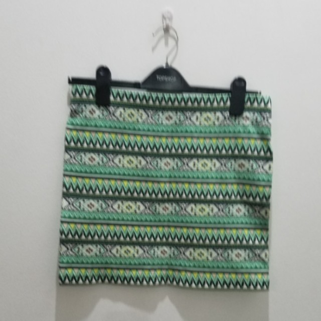 Forever 21 Green Printed Bodycon Skirt - Size L