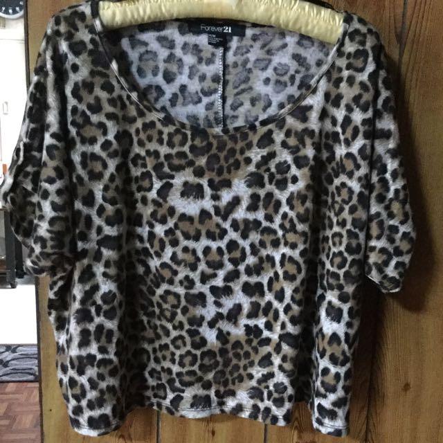 Forever 21 leopard top