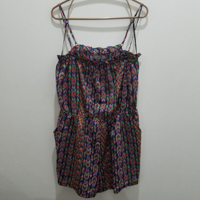 Forever 21 Printed Strappy Romper - Size L