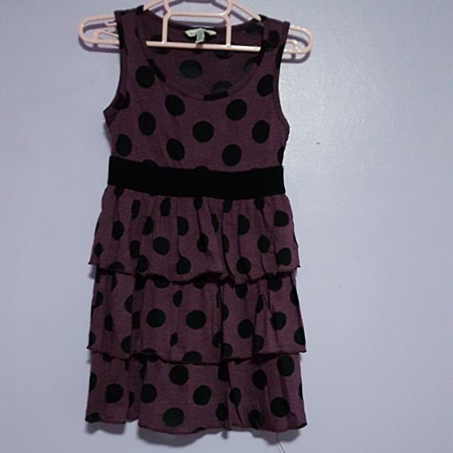 Forever 21 purple polkadot dress for kids