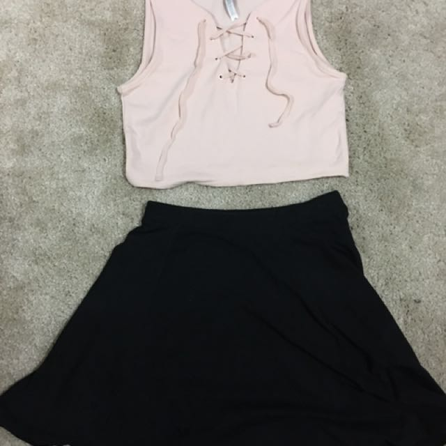 Forever new light pink top size 6-8