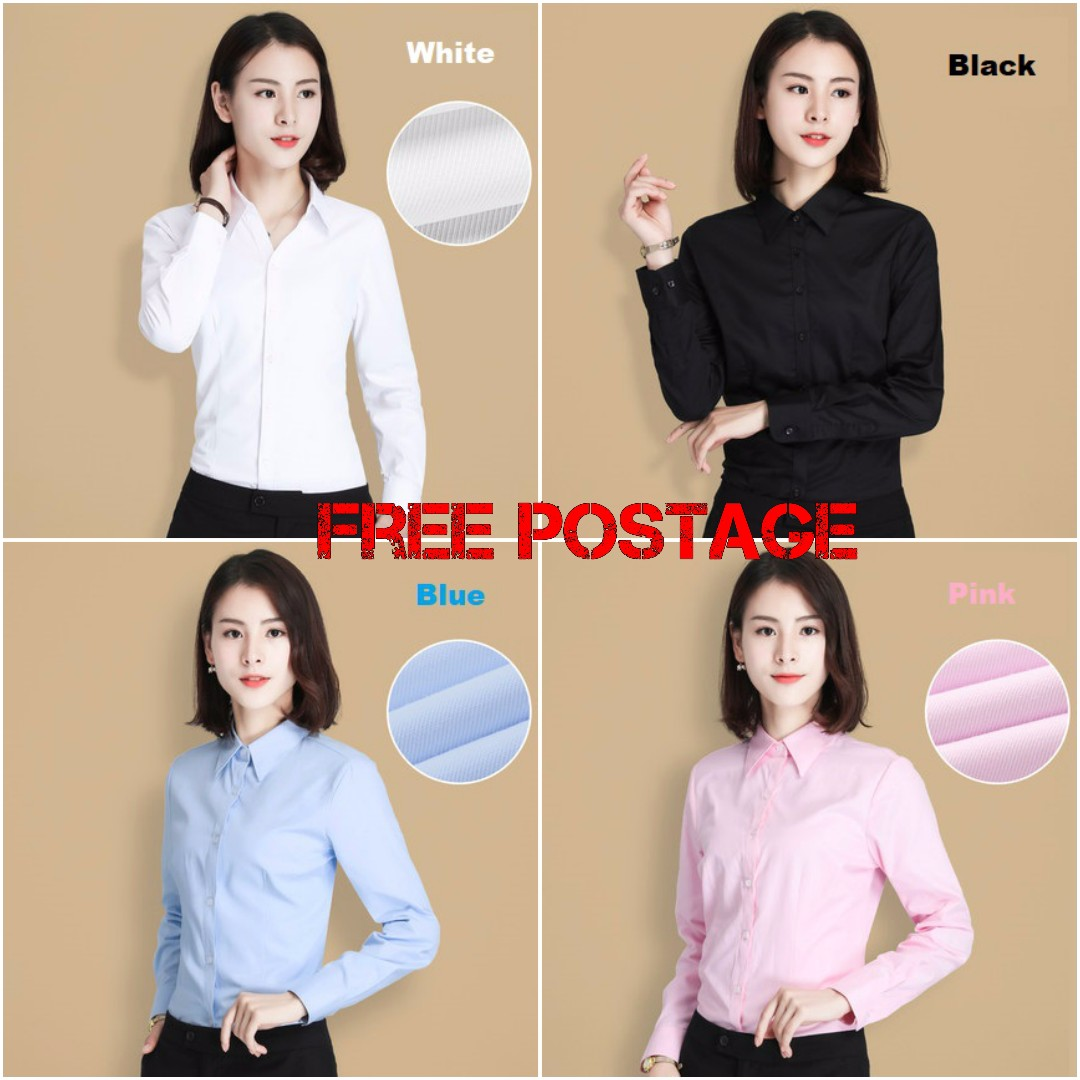[FREE POS]Blouse Long Sleeve Formal