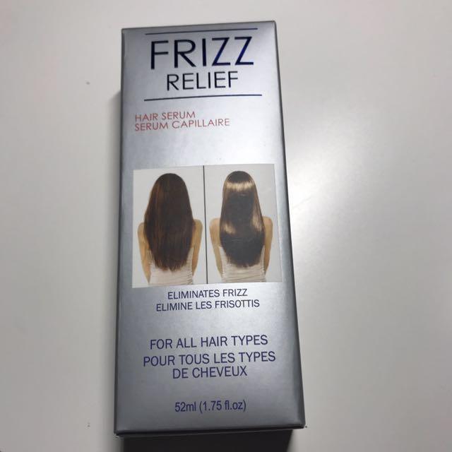 Frizz relief hair serum