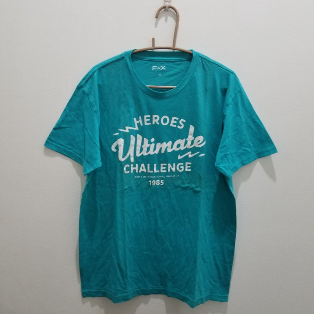 F&X Blue Green Printed Tee - Size M