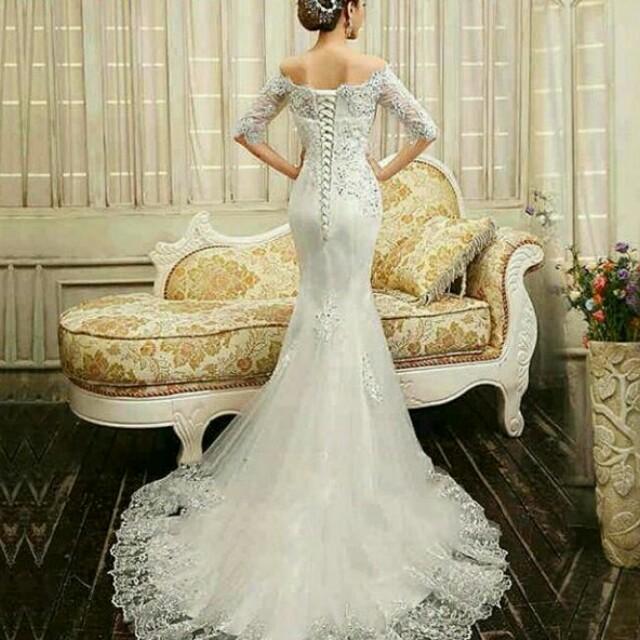 Gaun Pernikahan Gaun Wedding Wedding Gown Gaun Murah Fesyen Wanita Pakaian Wanita Gaun Rok Di Carousell