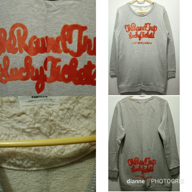 Gray pull over