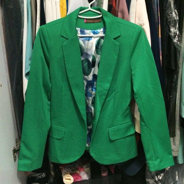Green Folio Blazer