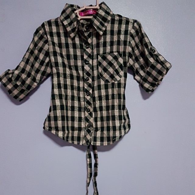 Grizzly Girls Checkered Polo
