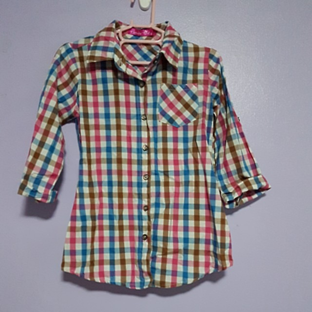 Grizzly Girls Plaid Polo