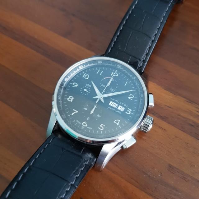 b1434525c Hamilton Jazzmaster Auto Chrono Maestro, Men's Fashion, Watches on Carousell