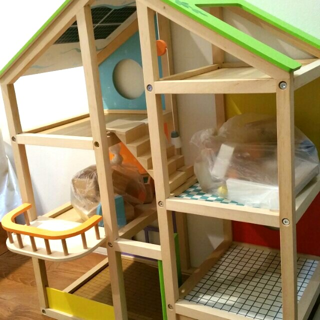 Hape Wooden Playhouse Dollhouse Doll House Babies Kids Toys