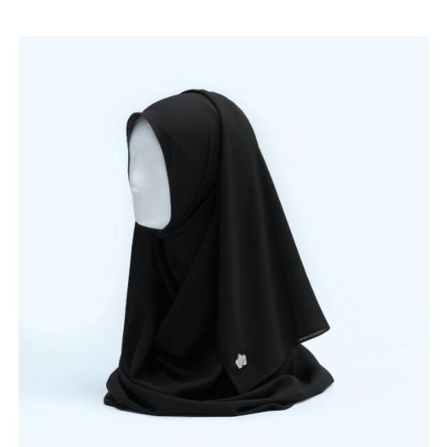 HDI Basic Shawl Black by Hijab Princess