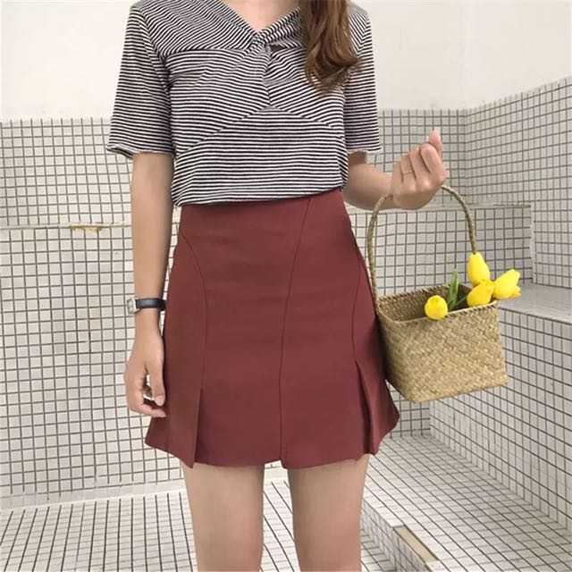 High Waisted A-Line Skirt (PO)