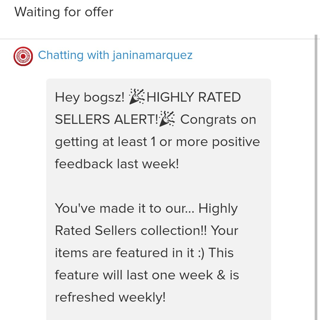 HIGHLY RATED SELLER AGAIN! Thanks Carousell