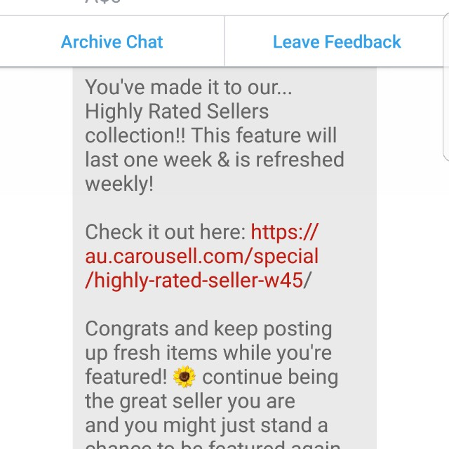 highly rated seller and buyer