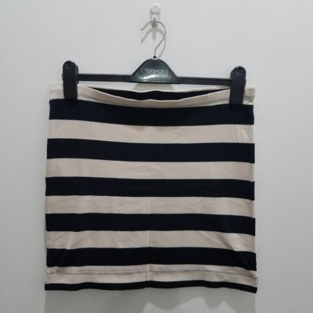 H&M Basic Stripes Bodycon Skirt - Size M