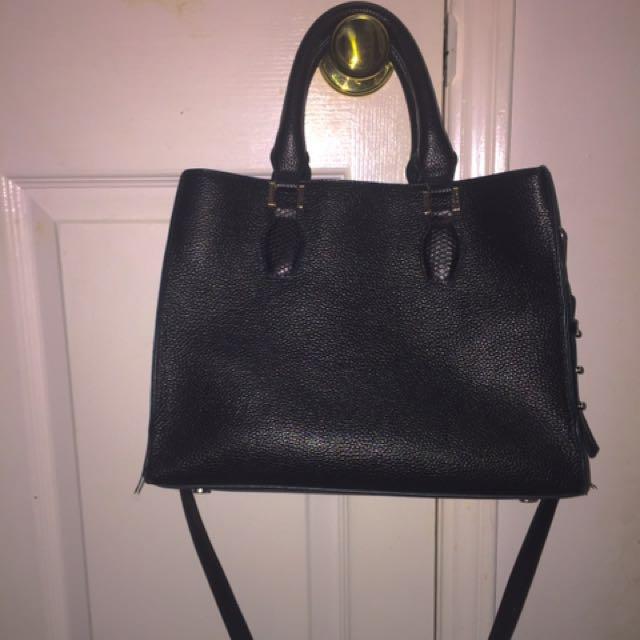H&M Black Hand Bag (faux Leather)