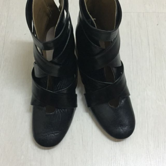INC Postage Authentic zara leather boots heels