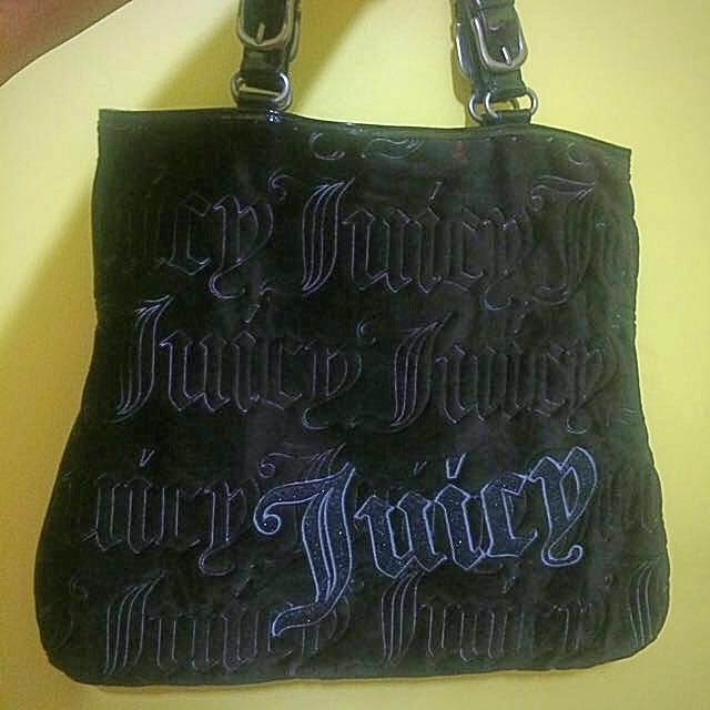 Juicy Couture Velvet Quilted Bag